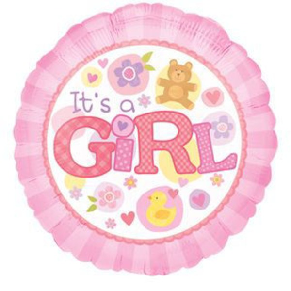 Mylar 18 Inch Baby Girl Balloon