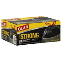 Glad Extra Strong 30 GAL Large Trash Drawstring Bags - 28 CT