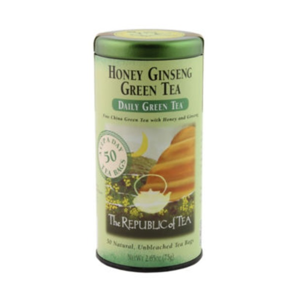The Republic of Tea Daily Green Tea Honey Ginseng