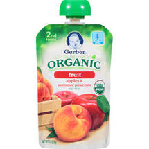 Gerber Organic 2nd Foods Apples & Summer Peaches Baby Food