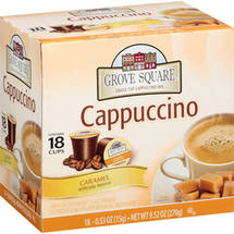 Grove Square Caramel Single Cup Cappuccino Mix