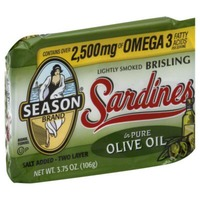 Season Brand Sardines Lightly Smoked Brisling In Pure Olive Oil