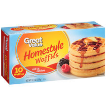 Great Value Homestyle Waffles