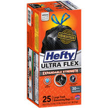 Hefty Ultra Flex Large Drawstring 30 Gallon Trash Bags