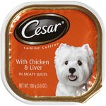 Cesar Wet Dog Food with Chicken & Liver in Meaty Juices