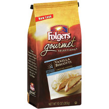 Folgers Gourmet Selections Vanilla Biscotti Ground Coffee