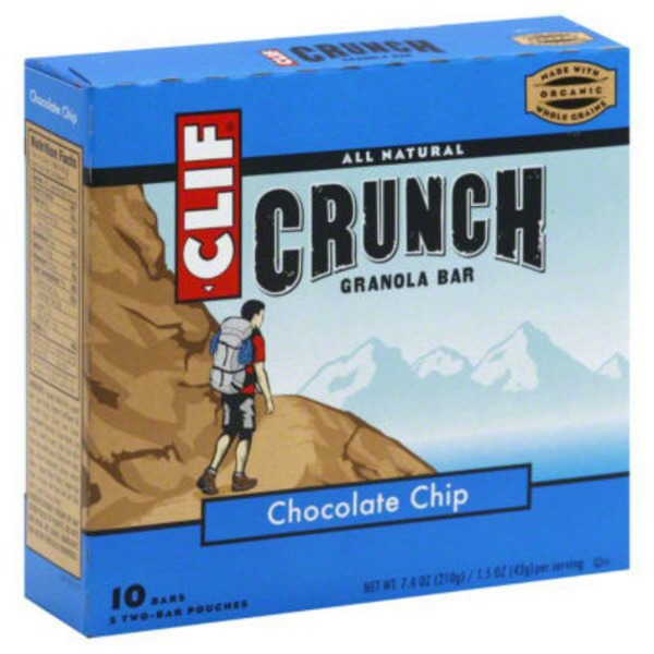 "Clif Crunch â""¢ Chocolate Chip Granola Bar"