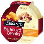 Sargento Balanced Breaks Natural Sharp Cheddar Cheese Sea Salted Cashews & Cherry Juice Infused Dried Cranberries Snacks