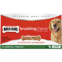 Milk-Bone Brushing Chews Daily Dental Treats Large 18.86 oz Value Pack