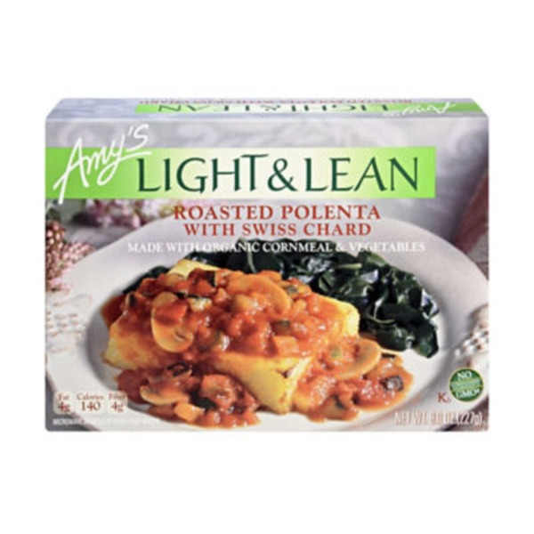 Amy's Light & Lean Roasted Polenta with Swiss Chard
