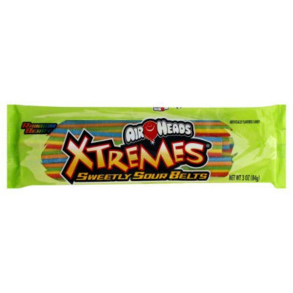 Air Nerds Air Heads Xtremes Rainbow Berry Sweetly Sour Belts Candy