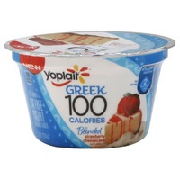 Yoplait Greek 100 Calories Strawberry Cheesecake Fat Free Yogurt