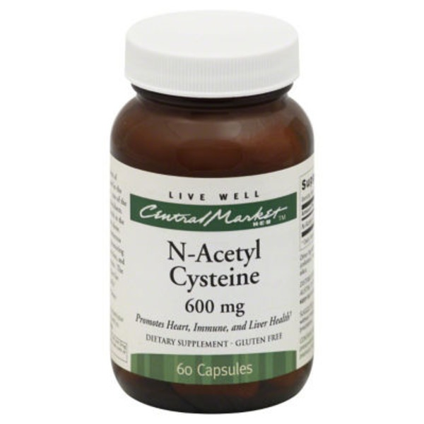 Central Market N Acetyl Cysteine 600 Mg Capsules