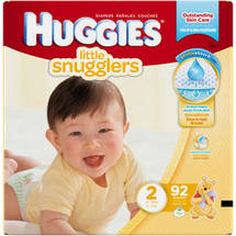 HUGGIES Little Snugglers Diapers Size 2 (Choose Diaper Count)