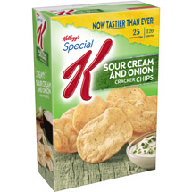 Kellogg's Special K Sour Cream & Onion Baked Snacks Cracker Chips