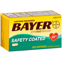 Bayer Aspirin Pain Reliever Enteric Coated Caplets