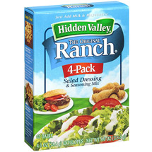 Hidden Valley Original Ranch Salad Dressing and Seasoning Mix Four 1.0 Ounce Packets
