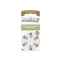 Rayovac Size 312 Hearing Aid Battery Mercury Free Batteries