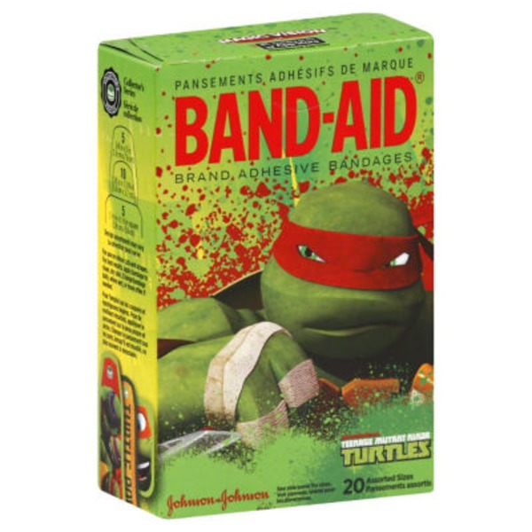 Band Aid® Brand Adhesive Bandages Band-Aid Teenage Mutant Ninja Turtles Assorted Posted 3/5/2013 Decorated