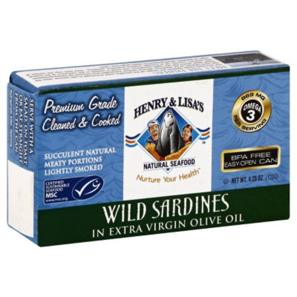 Henry & Lisa's Wild Sea Sardines In Olive Oil