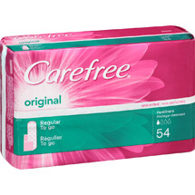 Carefree Original Regular to Go Unscented Pantiliners