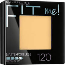 Maybelline New York Fit Me! Matte + Poreless Foundation Powder 120 Classic Ivory