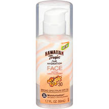 Hawaiian Tropic Silk Hydration Face Oil Free Lotion Sunscreen SPF 30