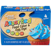 Great Value Assorted Food Color & Egg Dye