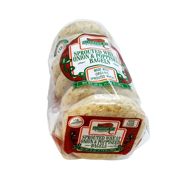 Alvarado St. Bakery Sprouted Onion Poppyseed Bagels - 6 CT