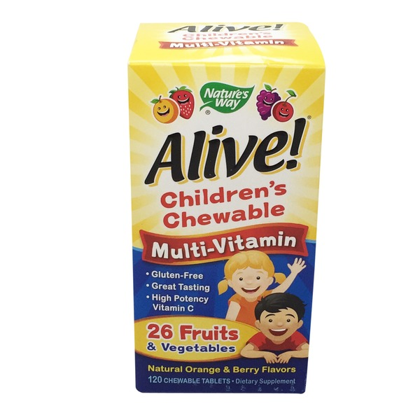 Nature's Way Alive! Children's Chewable Multivitamin Natural Orange & Berry Flavors