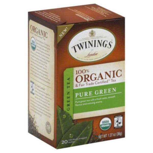 Twinings Organic & Fair Trade Certified Pure Green Tea Bags