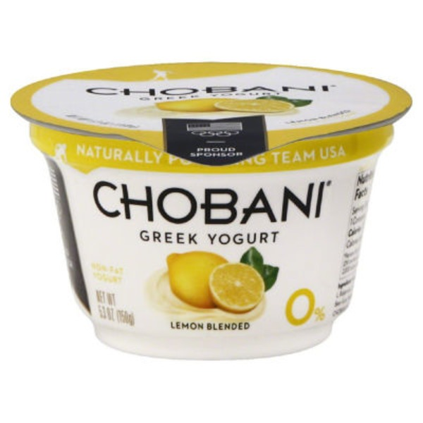 Chobani Lemon Blended Non-Fat Greek Yogurt