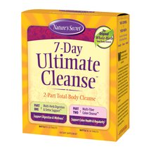 Nature's Secret 7-Day Ultimate Cleanse 2-Part Total-Body Cleanse Tablets