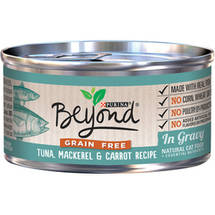 Purina Beyond Grain-Free Tuna Mackerel and Carrot Recipe in Gravy Canned Cat Food