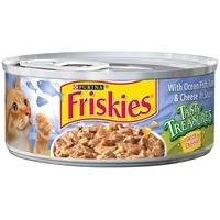 Friskies Tasty Treasures with Ocean Fish Tuna & Cheese in Sauce Cat Food