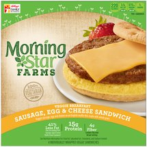 MorningStar Farms Sausage Egg & Cheese Veggie Breakfast Sandwiches