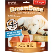 DreamBone Vegetable and Chicken Peanut Butter Large Dog Chews