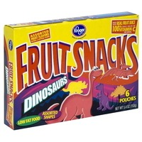 Kroger Dinosaurs Fruit Flavored Snacks