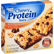 Great Value Peanut Butter & Dark Chocolate Chewy Protein Bars