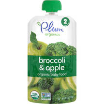 Plum Organics Broccoli & Apple Stage 2 Organic Baby Food