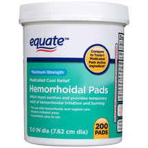 Equate Maximum Strength Medicated Cool Relief Hemorrhoidal Pads