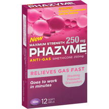 Phazyme Maximum Strength Anti Gas Medicine Softgels