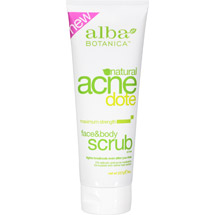 Alba Botanica Natural Acnedote Maximum Strength Face & Body Scrub