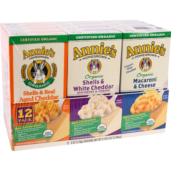 Annie's Homegrown Macaroni & Cheese Variety Pack Macaroni & Cheese Organic