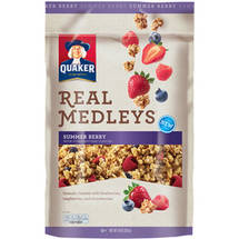Quaker Real Medleys Summer Berry Granola Cereal