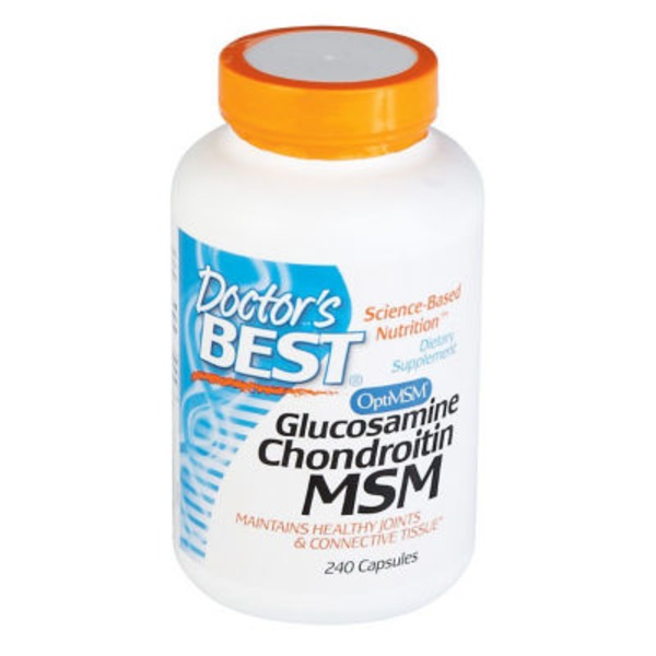 Doctor's Best Glucosamine Chondroitin MSM Dietary Supplement Capsules