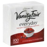 Vanity Fair Everyday Napkins - 100 CT