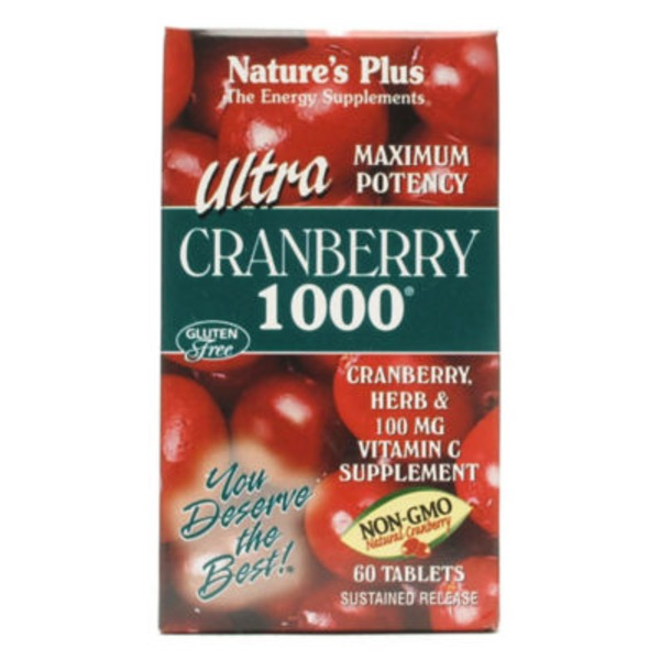 Nature's Plus Ultra Cranberry 1000 Mg