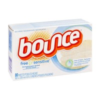 Bounce Fabric Softener Dryer Sheets Free & Gentle 80CT Fabric Enhancers
