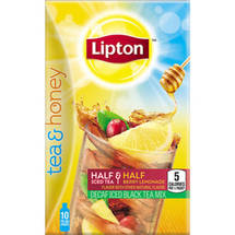 Lipton Tea and Honey Berry Lemonade Decaf Iced Black Tea To Go Packets